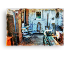 Classical vintage antiques shop Canvas Print