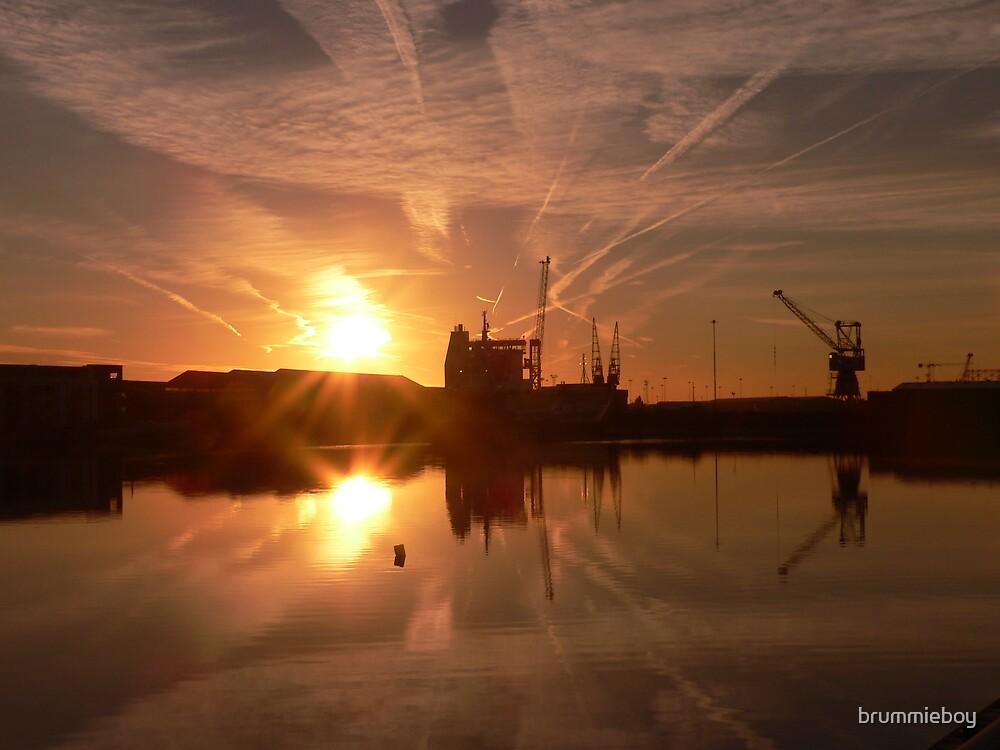 Industrial sunrise by brummieboy