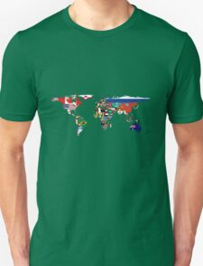 Map of Flags Navy Unisex T-Shirt