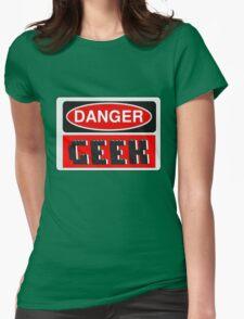 Danger Geek Sign Womens T-Shirt