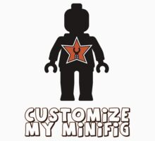 "Minifig [Black] ""Customize My Minifig"" Star Logo by Customize My Minifig"
