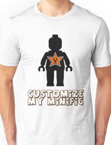 "Minifig [Black] ""Customize My Minifig"" Star Logo Unisex T-Shirt"