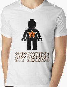 "Minifig [Black] ""Customize My Minifig"" Star Logo Mens V-Neck T-Shirt"