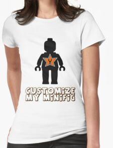 """Minifig [Black] """"Customize My Minifig"""" Star Logo Womens Fitted T-Shirt"""