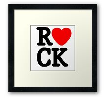 Music Lover. Love Rock. Framed Print