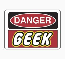 Danger Geek Sign Kids Tee