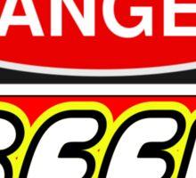 Danger Geek Sign Sticker