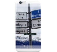 MONTANA BLUCHE iPhone Case/Skin