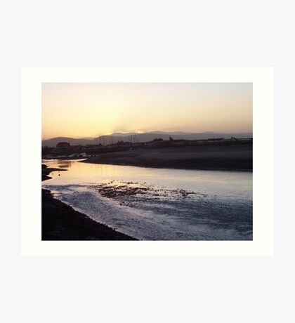 Sunset on the Clwyd Art Print