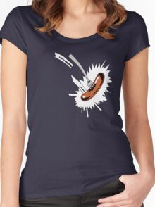 Grange Hill Food Fight Women's Fitted Scoop T-Shirt