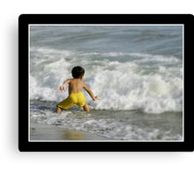 Sparring Against The Wave Canvas Print
