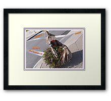 Happy Halloween Scarecrow Framed Print