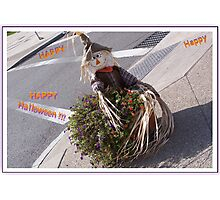 Happy Halloween Scarecrow Photographic Print