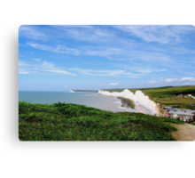 The white cliffs of Birling Gap, East Sussex. Canvas Print