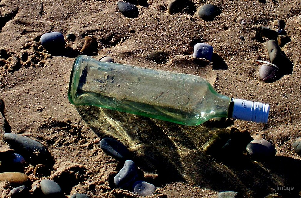 Bottle on the Beach by JImage