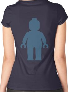 Minifig [Large Navy Blue], Customize My Minifig Women's Fitted Scoop T-Shirt