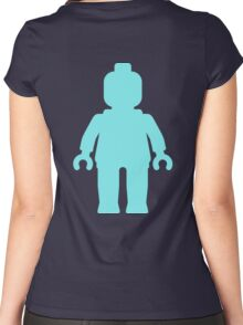 Minifig [Large Light Blue], Customize My Minifig Women's Fitted Scoop T-Shirt