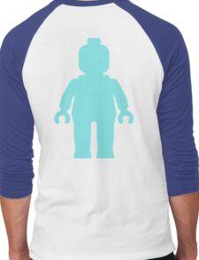 Minifig [Large Light Blue], Customize My Minifig Men's Baseball ¾ T-Shirt
