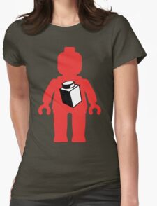 Red Minifig with 1 x 1 Brick Logo, Customize My Minifig Womens Fitted T-Shirt