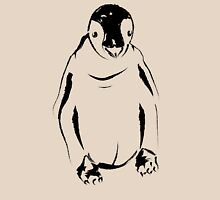 Festive Penguin, Sketch Womens Fitted T-Shirt
