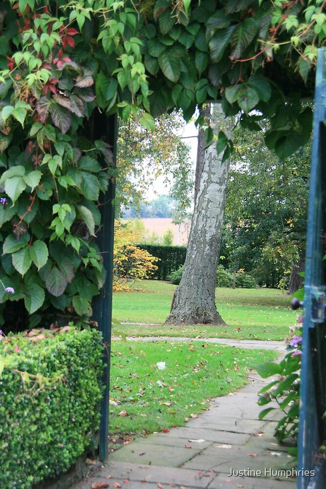 Through the garden door by Justine Humphries