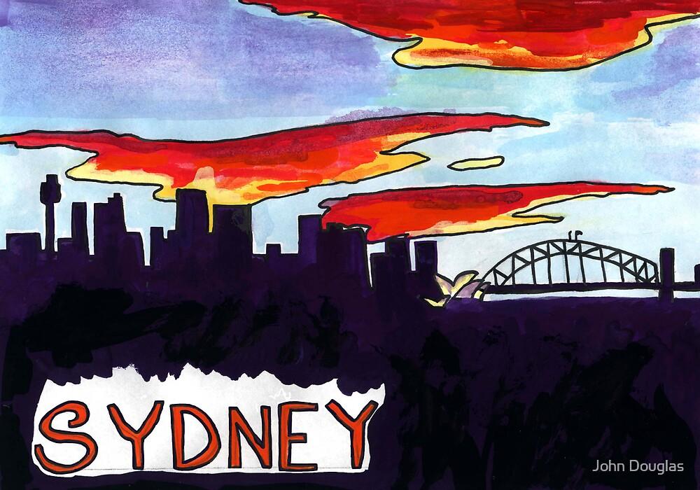 Sydney Skyline Sunset by John Douglas