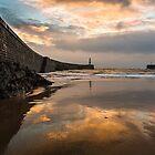 Harbour Sunrise - Seaham, Durham by David Lewins