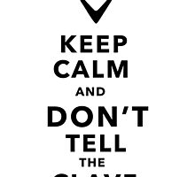 Keep Calm and Don't Tell the Clave by Sung Kim