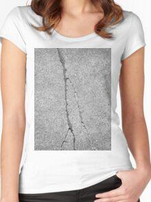 BROKEN SIDEWALK (Damaged) Women's Fitted Scoop T-Shirt