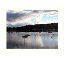 Conwy Yachts Art Print