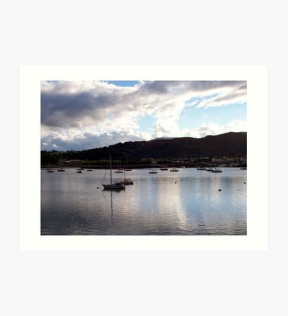 Conwy Yachts Art Print