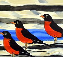 Red Black Birds by Susan Greenwood Lindsay