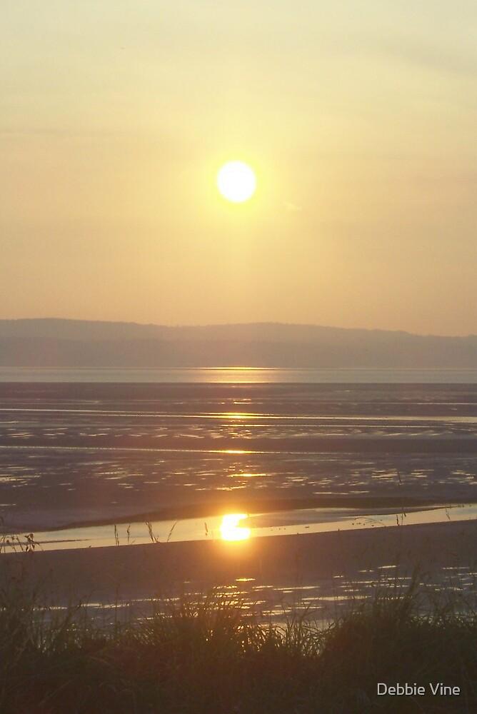 Sun setting at Thurstaston by Debbie Vine