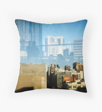 Cookie Rooftop Throw Pillow
