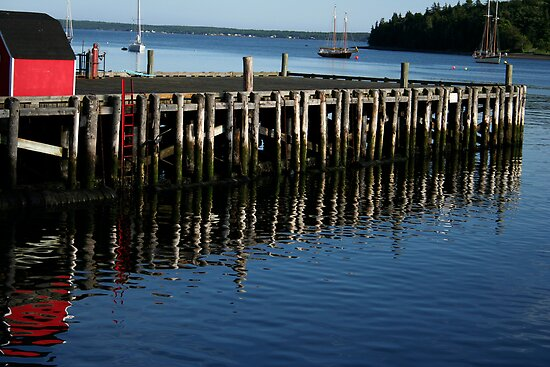 Dock Reflections by Scott Ruhs