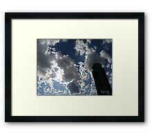 Air Traffic Control Tower Lost in the Sky Framed Print