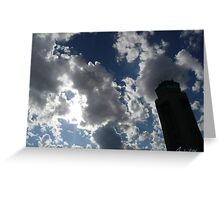 Air Traffic Control Tower Lost in the Sky Greeting Card