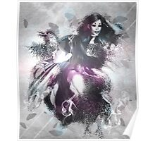 Girl with ravens manipulation Poster