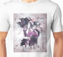 Girl with ravens manipulation 3 Unisex T-Shirt
