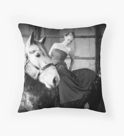 Fashion Horse Throw Pillow