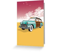 Woodie Surf Car Greeting Card