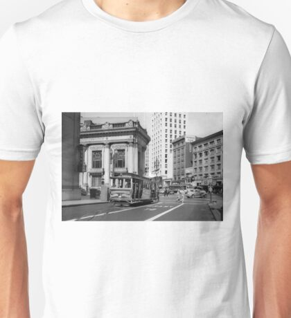 Cable Car in San Francisco during WWII Unisex T-Shirt