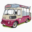 ice cream vanvector illustration of an ice cream truck by Lara Allport