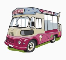 ice cream vanvector illustration of an ice cream truck by Lara Allport