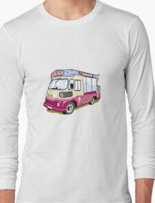 ice cream vanvector illustration of an ice cream truck Long Sleeve T-Shirt