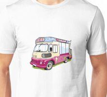 ice cream vanvector illustration of an ice cream truck Unisex T-Shirt