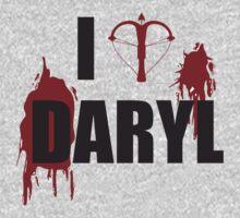 Walking Dead Zombie Fans - I <3 Daryl - Black Lettering by Kelmo