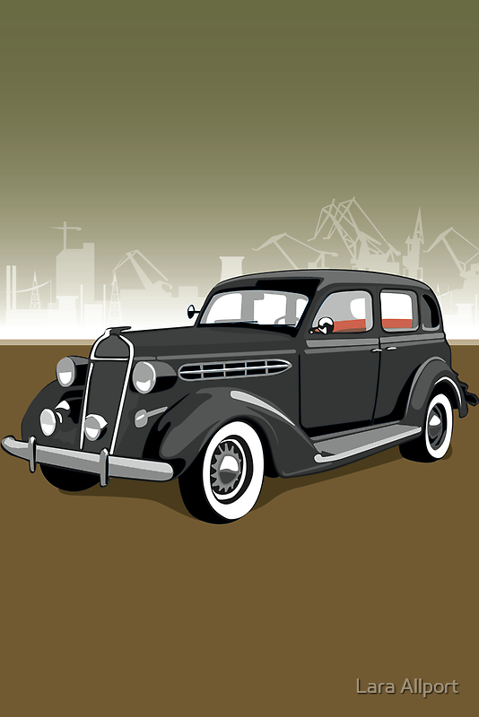 Chrysler gangster car by Lara Allport