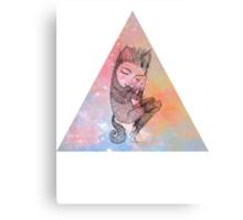 Catskin Nebula Triangle Canvas Print