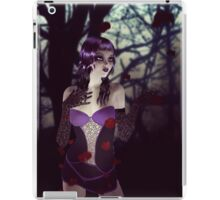 Gothic girl with rose petals iPad Case/Skin